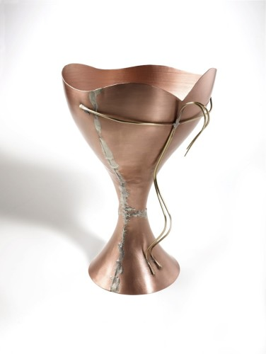 Riccardo Dalisi, Calice, altezza totale 25 cm; diametro coppa 16.6 cm; diametro base 11.8 cm