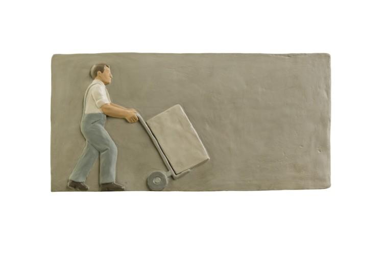 Nando Crippa, Senza titolo, 2006, gesso dipinto, 24.5x48x3 cm Courtesy dell'artista Foto © Stefano Pensotti