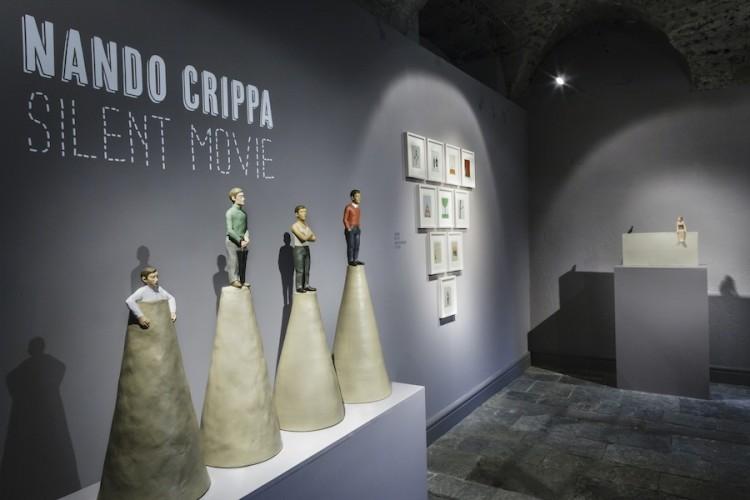 Nando Crippa. Silent Movie, veduta della mostra, Galleria Credito Valtellinese, Palazzo Sertoli, Sondrio Foto © Stefano Pensotti