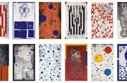 Roberto Floreani, Ricordare Boccioni, 2016-17, installazione completa di 32 opere, tecnica mista su tela, 65x40 cm ciascuna