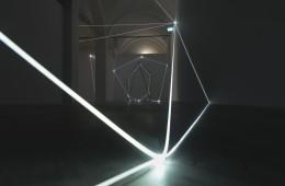 Carlo Bernardini, Oltrelimite, 2017, fibra ottica. Foto Roberto Marossi