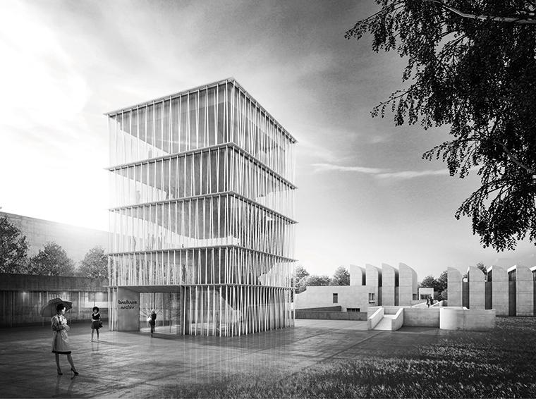 L'espansione del Bauhaus-Archiv, Berlino (© H. - J. Wuthenow)