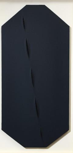 Lucio Fontana, Concetto Spaziale, Attese, 1959, idropittura su tela