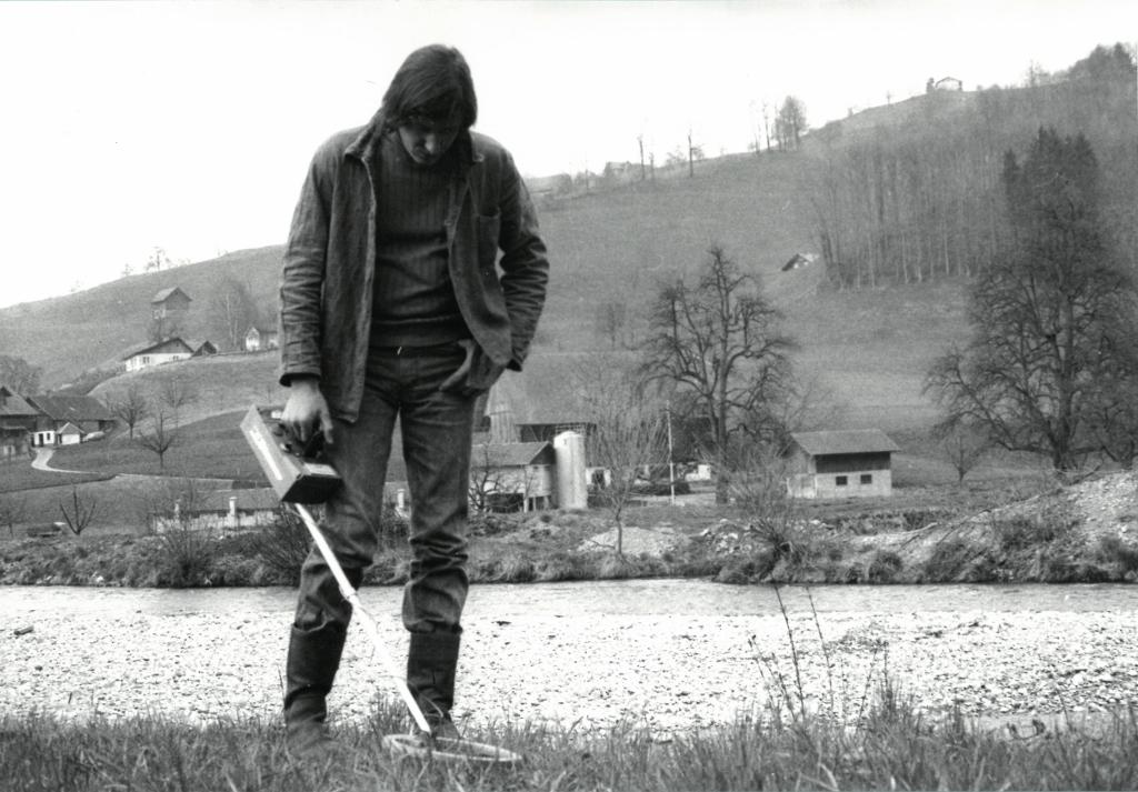 Paul Wiedmer, Neuenburg, 1974. Metallo, 50x28x114cm. Art Collection City of Bern