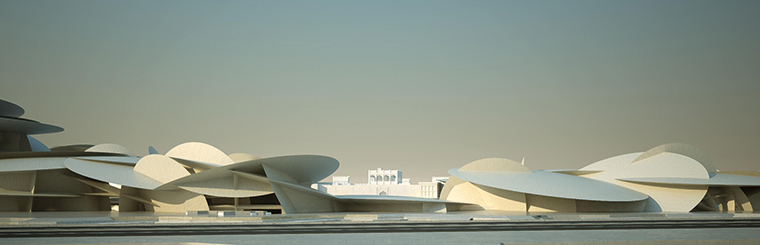 National Museum of Qatar, Doha, render © Ateliers JeanNouvel