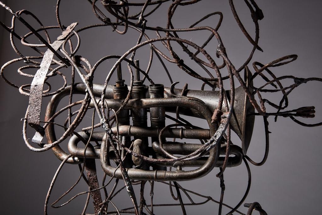 Paul Wiedmer, ZÅrich. Metallo, 40x38x84cm, Collezione dell'artista