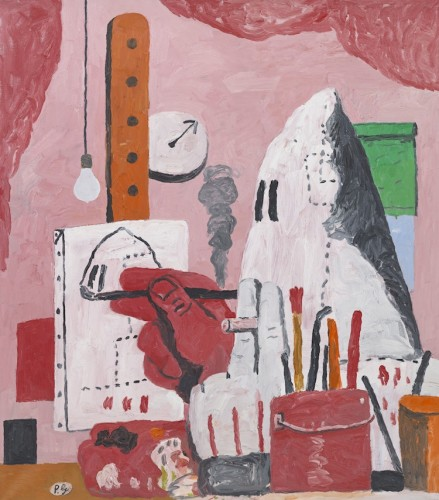 Philip Guston, The Studio, 1969, oil on canvas, 48x42 in., Private Collection © The Estate of Philip Guston Photo Genevieve Hanson