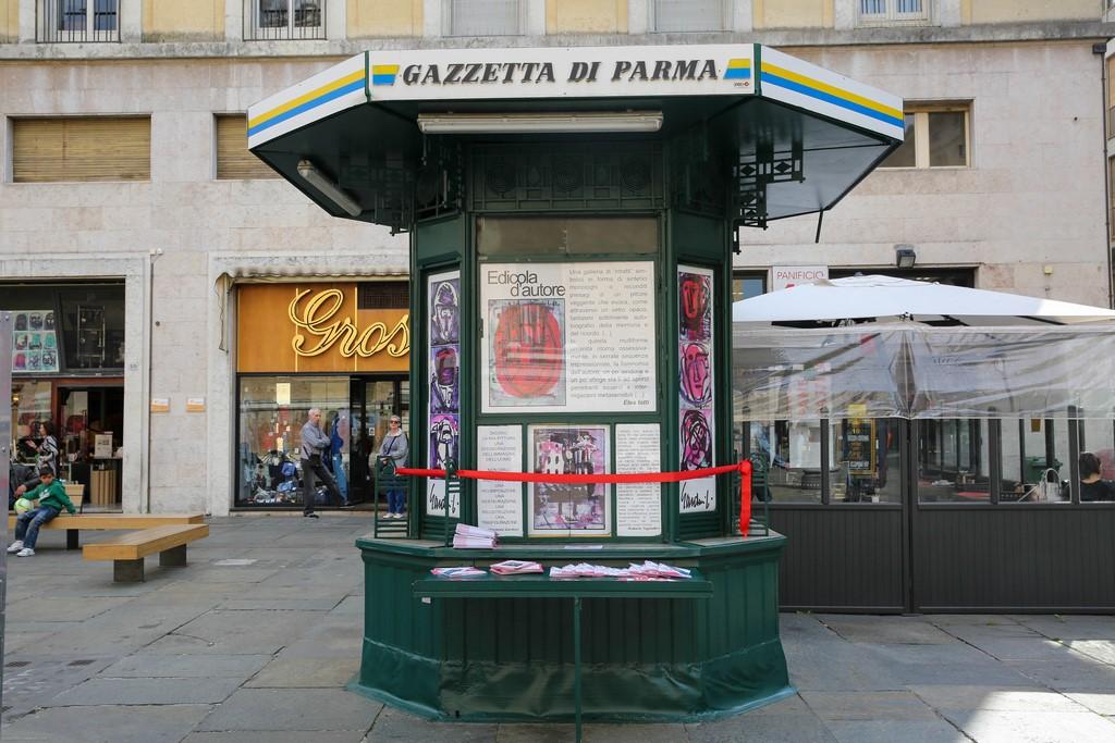 Vincenzo Gardoni, Riapertura Edicola di Piazza della Steccata. Foto: Federico Avanzini