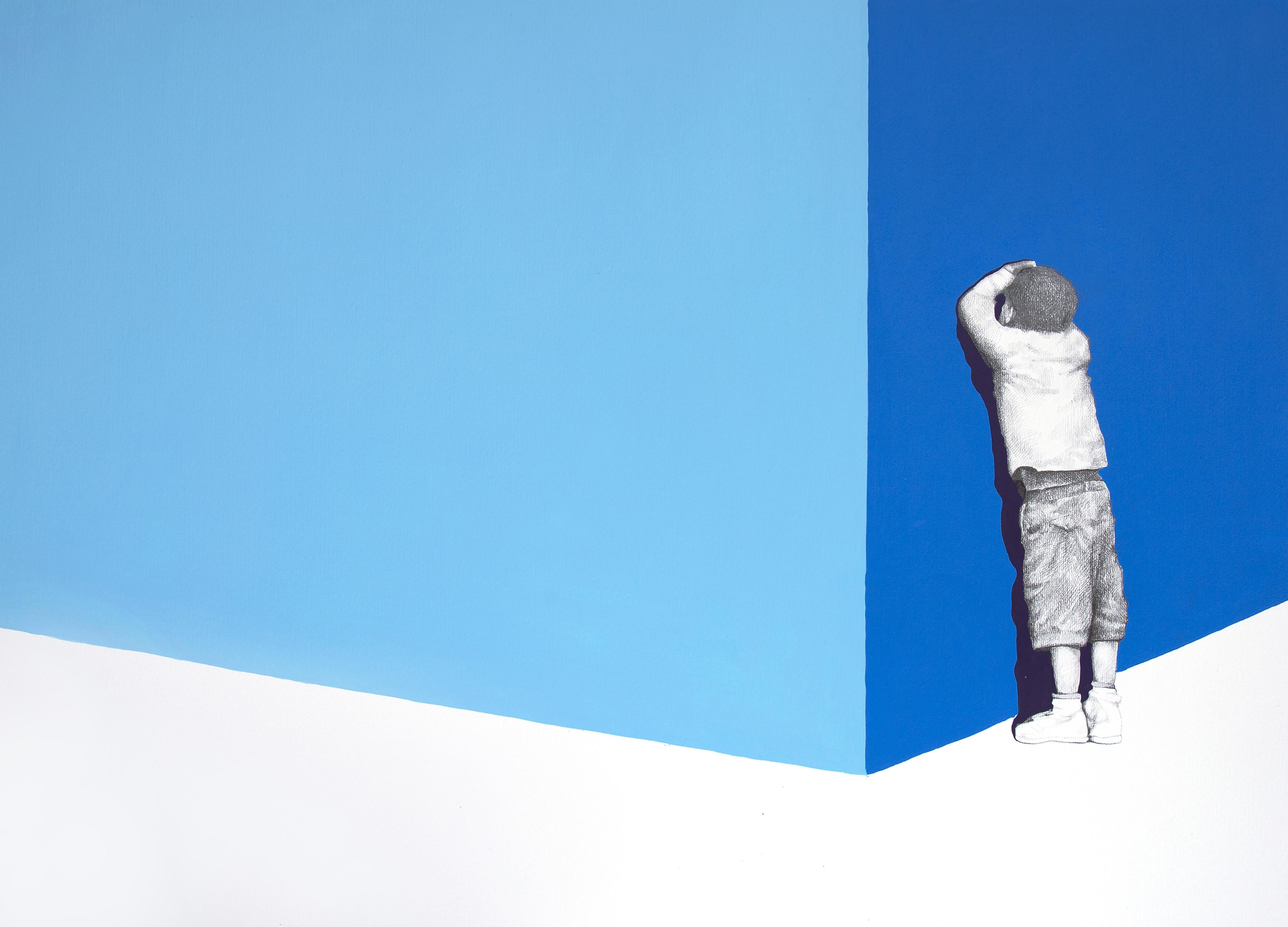 Igor Molin, 31, 70x50cm, acrilico e grafiche su carta,2017