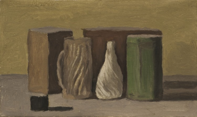 Giorgio Morandi, Natura morta, 1959, olio su tela, 18x30 cm, Fondazione Spadolini Nuova Antologia, Firenze