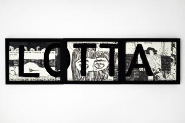 Sandro Mele, Trittico, acquerello e tempera su carta. cm 20x60 totali