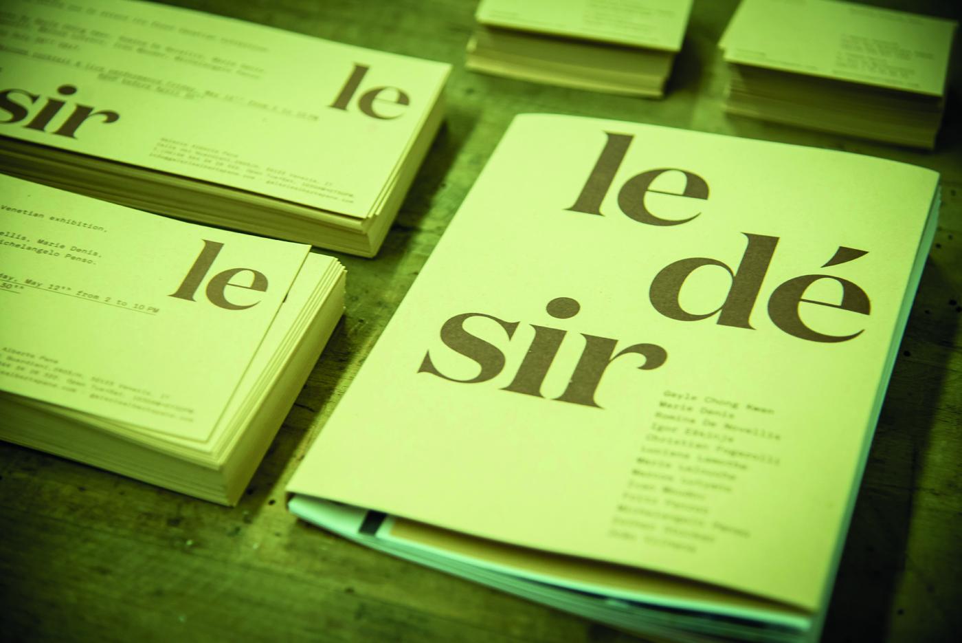 Le Dèsir, book. Foto: Nicole De Grandis
