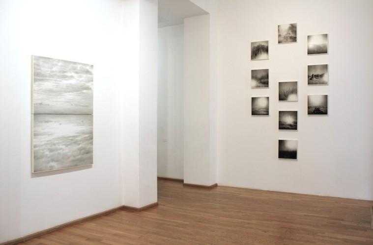 Ettore Frani. Ricucire il cielo, veduta della mostra, Nuova Galleria Morone, Milano Foto Paola Feraiorni