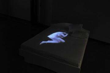 Veduta della video installazione di Francesca Romana Pinzari, Get closer, 2013, Kymenlaakso Museum,  Kotka (Finlandia). Photo credits: Sissa Micheli