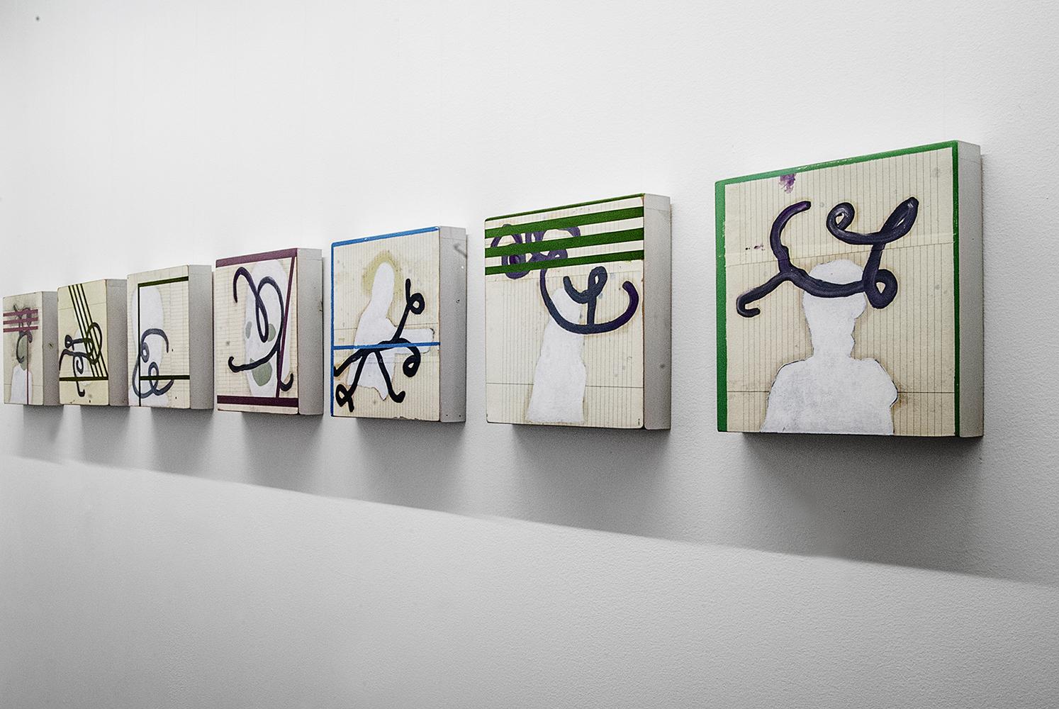 Luca Coser, The painting are names, veduta della mostra, Gilda Contemporary Art, Milano. Foto: Paola Codeluppi