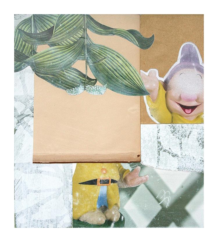 Luca Coser - Il dorso delle cose - 2013 - serie di 7 tecnica mista e collage su cartoncino - cm 33x36,5