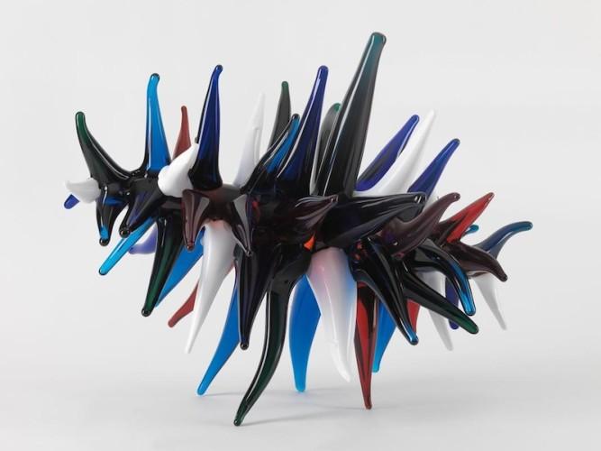 John Armleder, Silvano, 2008, vetro, 37.5x50x41 cm Galerie Andrea Caratsch, St. Moritz