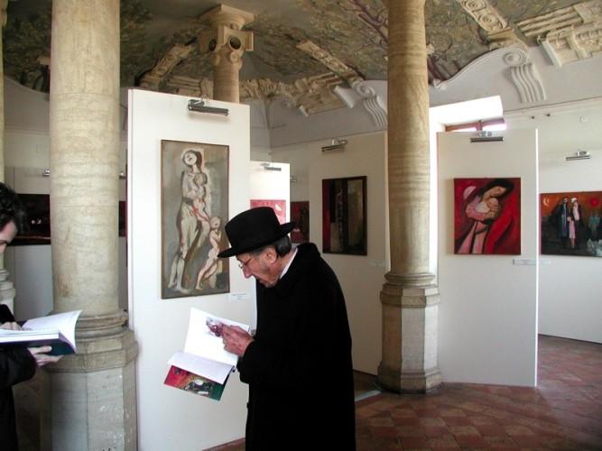"""Trento Longaretti alla mostra """"Trento Longaretti. In cammino"""", Museo Nazionale di Castel Sant´Angelo, Roma 2006"""