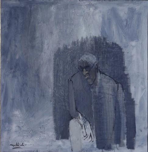 Carlo Mattioli, Ritratto di Morandi, 1969, olio su tela, 50x50 cm, Collezione privata Crediti Archivio Mattioli