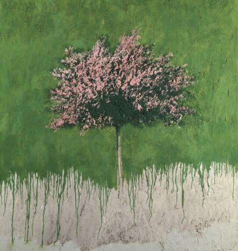 Carlo, Mattioli, Paesaggio, 1980 olio su tela, 150x120 cm, Collezione privata Crediti Archivio Mattioli