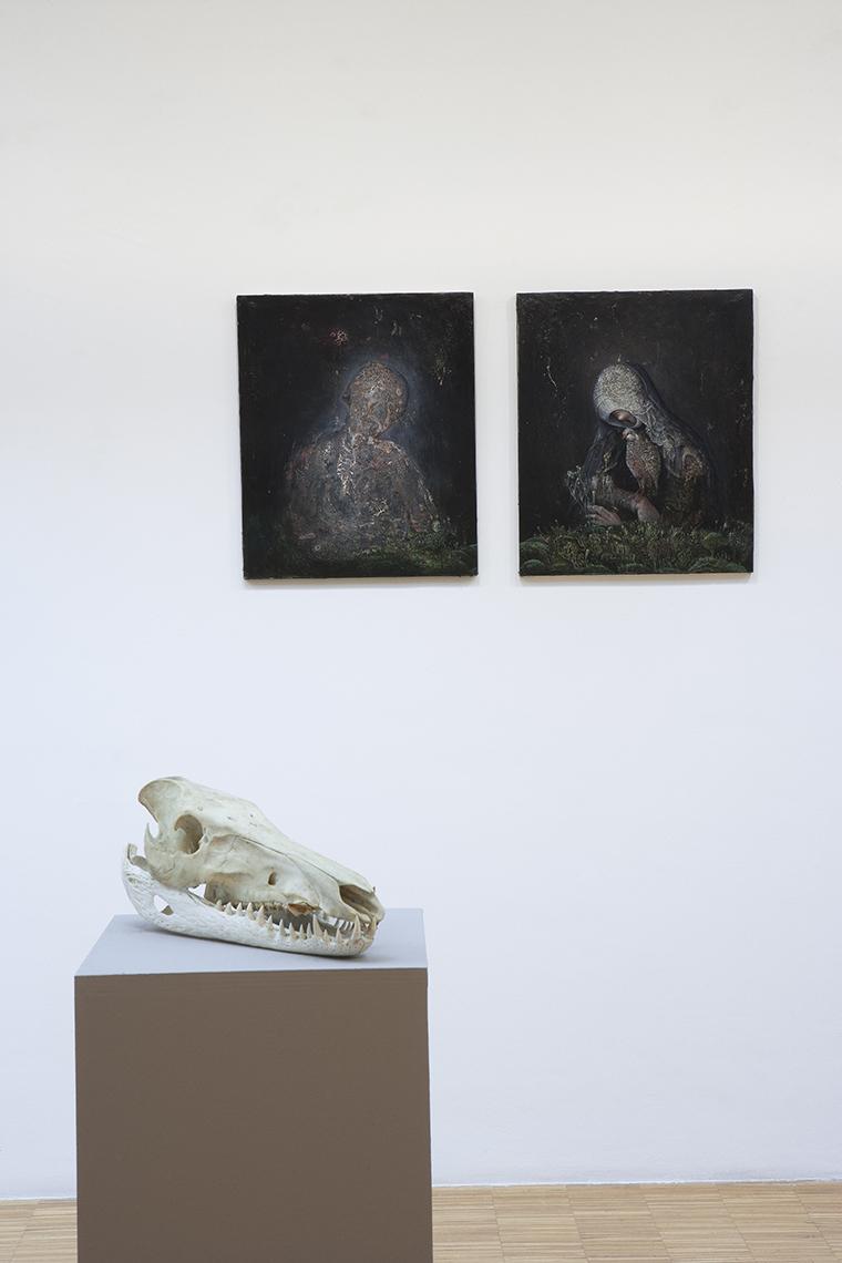 Agostino Arrivabene, L'ospite parassita, veduta della mostra, MAC, Lissone. Foto: Andrea Parisi