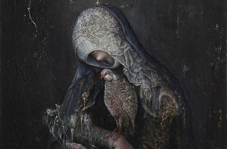 Agostino Arrivabene. Profumo dello spirito (dittico - dettaglio), 2013-2017, olio su legno, cm 60x50
