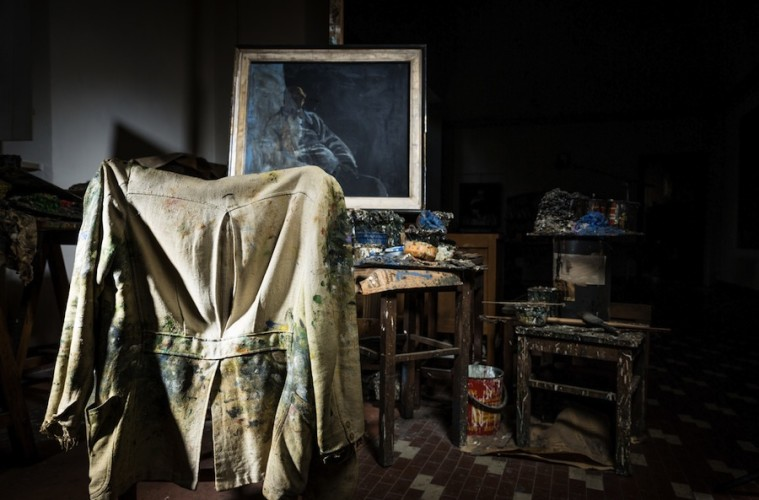 Lo studio dell'artista Crediti Archivio Mattioli