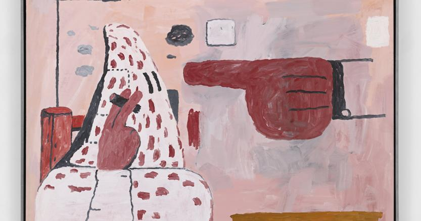 Philip Guston, Untitled, 1969, Lithographic crayon and oil on panel, Venduto da Hauser & Wirth