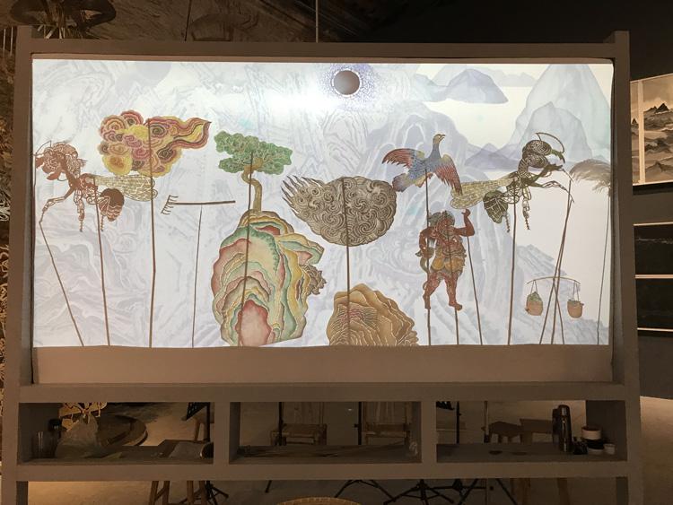 Wang Tianwen, Wu Jian'an, Tang Nannan, Yao Huifen Continuum – Removing the Mountains and the Sea Shadow play screen, 2015