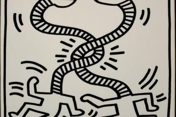 Keith Haring, Senza titolo, 1983, litografia su carta, 34x47 cm