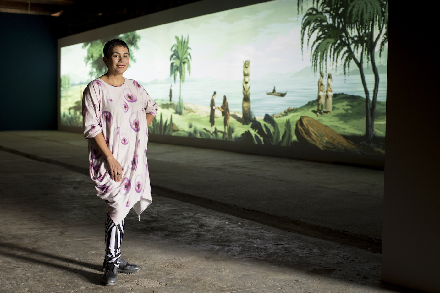 Lisa Reihana. Biennale Arte 2017. Foto: Michael Hall. courtesy of New Zealand at Venice