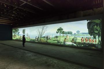 Lisa Reihana: Emissaries. in Pursuit of Venus [infected], 2015–17, Lisa Reihana: Emissaries, Biennale Arte 2017. Photo: Michael Hall. Courtesy of New Zealand at Venice