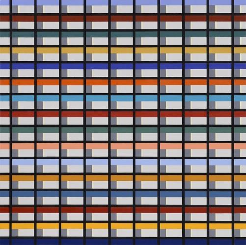 Marco Petrus, M15, 2015, olio su tela, 100x100 cm