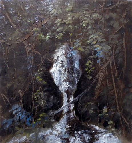 Marco Pace, Head I, 2017, olio su tela, 25x27 cm