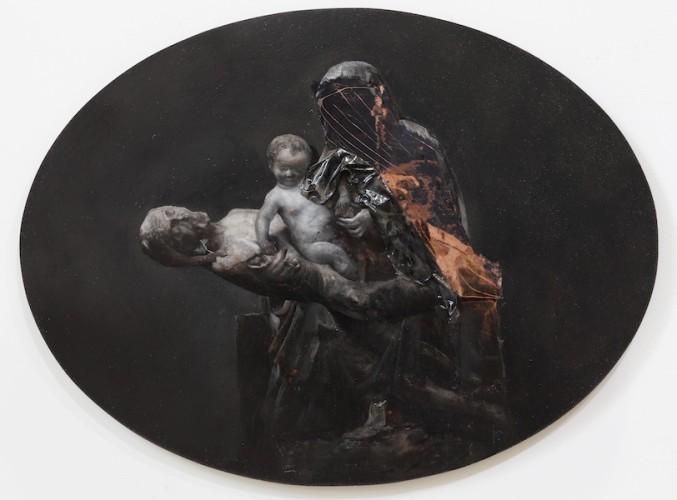 Nicola Samorì, Corpus Domini, 2017, olio su rame, 40 x 30 cm Courtesy l'artista e Monitor, Roma