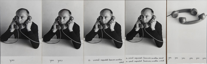 Vincenzo Agnetti, Surplace, 1979. Courtesy Archivio Vincenzo Agnetti