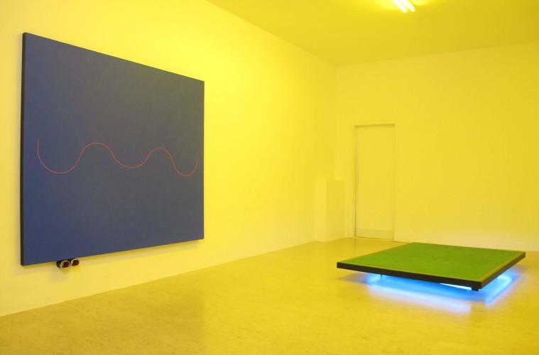 Davide Mancini Zanchi, Blitzen Benz, 2014, veduta della mostra da A+B Gallery, Brescia