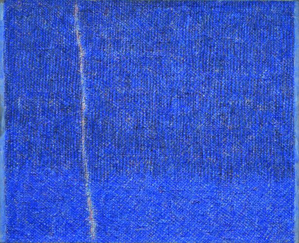 Piero Dorazio, Crack bleu, 1959, olio su tela, 81x100 cm, Collezioni Intesa Sanpaolo © Archivio Attività Culturali, Intesa Sanpaolo Foto Paolo Vandrasch