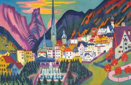 Ernst Ludwig Kirchner, Davos con chiesa; Davos d'estate, 1925, olio su tela 121 x 170,5 cm, Kirchner Museum Davos, donazione Associazione di promozione turistica Davos