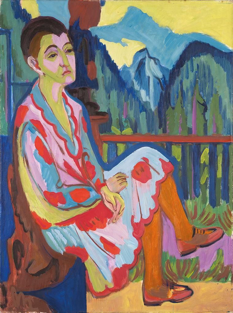 Ernst Ludwig Kirchner, Signora seduta (Erna Kirchner), 1926, Olio su tela, 120 x 90 cm, Kirchner Museum Davos, donazione Fondazione Famiglia Benvenuta 1996