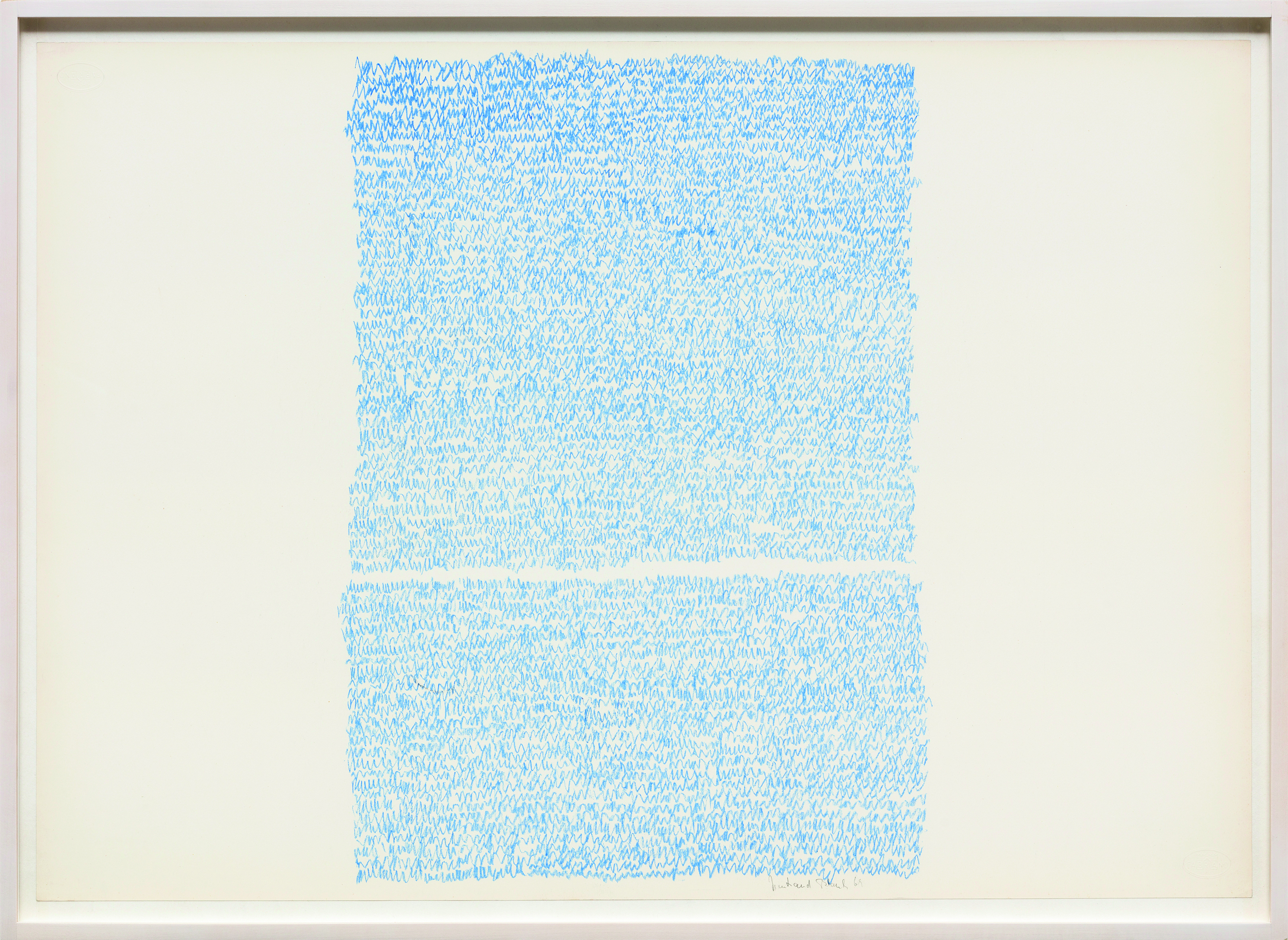 Irma Blank, Eigenschriften, 1969, pastello su carta pastel on paper, cm.50x7(ph.C.Favero) Courtesy the artist and P420, Bologna