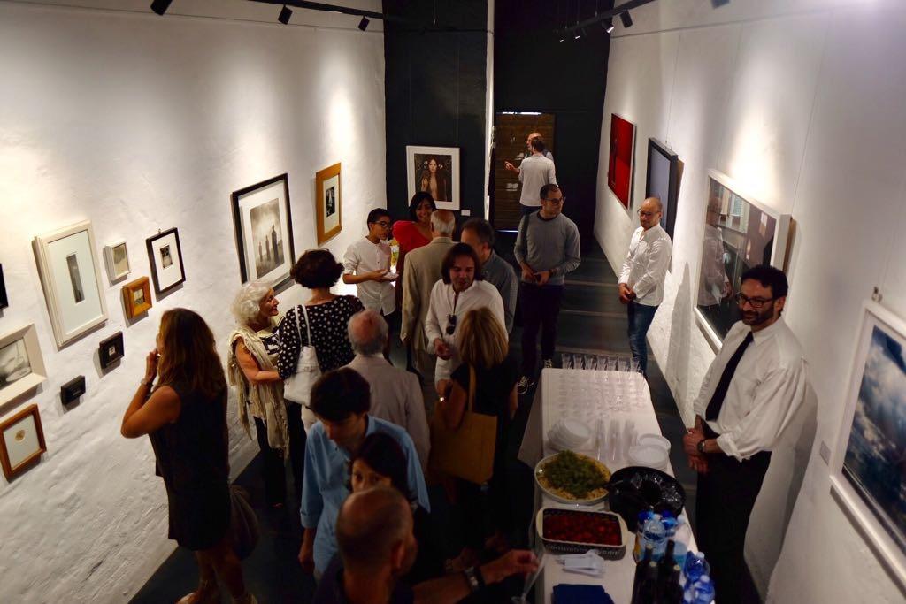 Una veduta della galleria durante l'openig