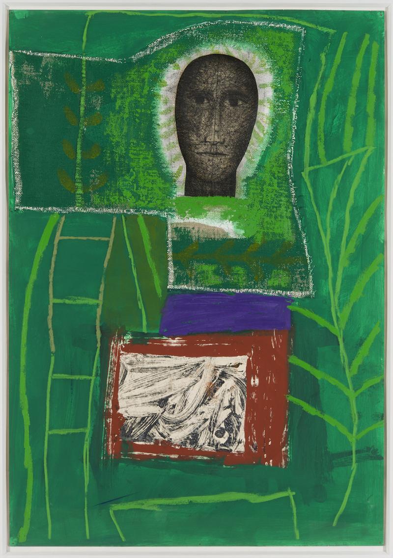 Mimmo Paladino, Tutti i santi, 2009, tecnica mista su cartone, 72x103 cm