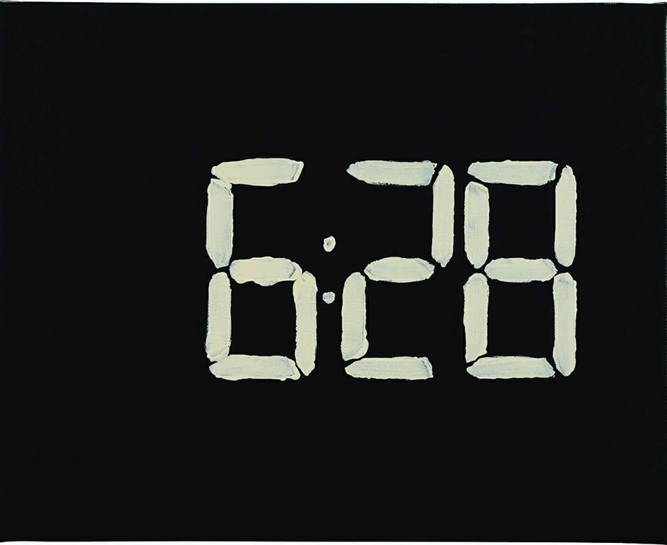 Marco Neri, 20 minuti interminabili (II), 2017 (Amatrice), particolare, acrilico su lino, 40X50 cm ciascuno