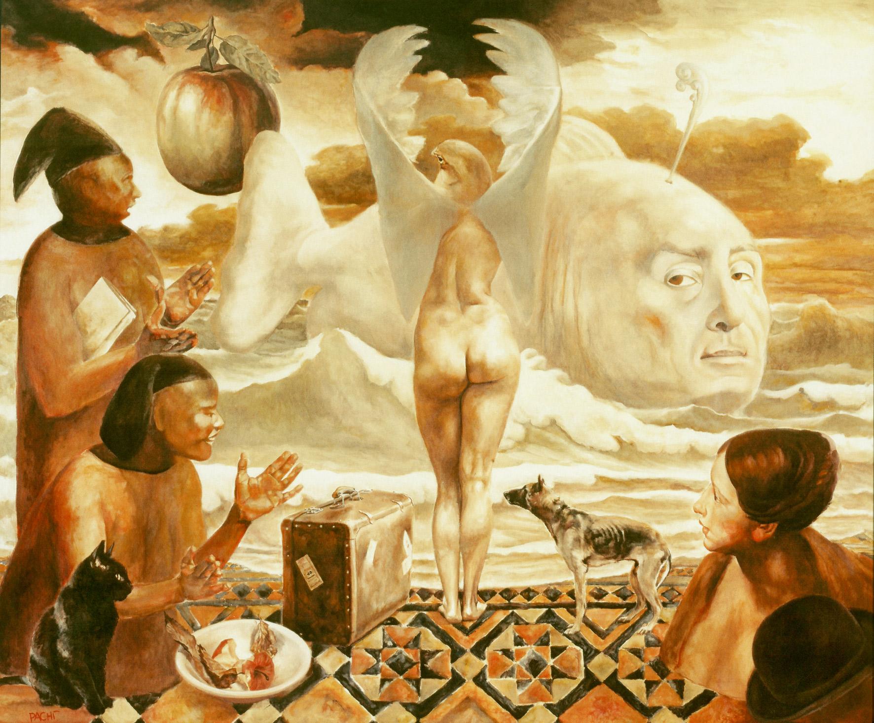 Stefano Pachì, macelleria, d'Occidente, dipinto su tela