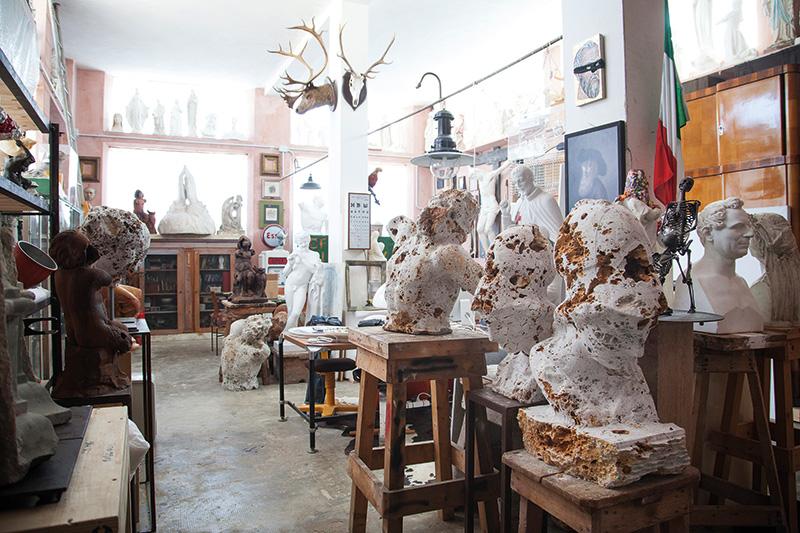 Studio del nonno di Massimiliano Pelletti. Foto: Nicola Gnesi