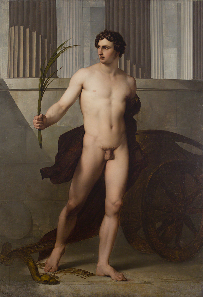 FRANCESCO HAYEZ, Atleta trionfante, 1813, olio su tela, 155x225 cm, Accademia Nazionale di San Luca, Roma