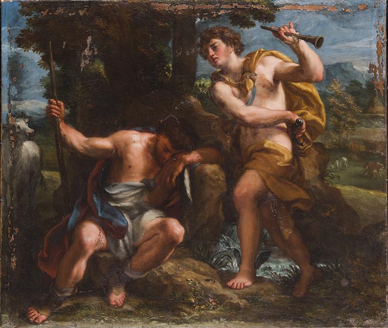 ANDREA PROCACCINI, Argo e Mercurio, 1716, olio su tela, 62,5x73,5 cm. Accademia Nazionale di San Luca, Roma