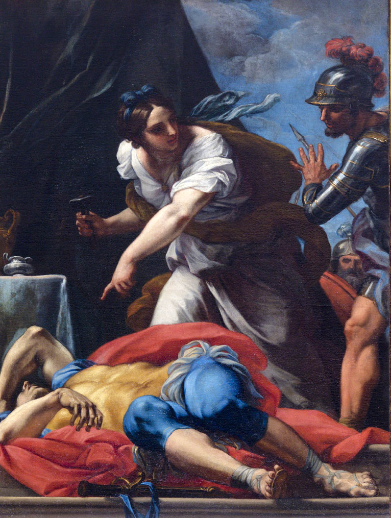 CARLO MARATTA, Giaele uccide Sisara, 1690-1692, olio su tela, 122,7 x 88,3 cm. Accademia Nazionale di San Luca, Roma