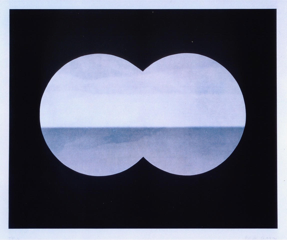Markus Raetz, Binocular view, 2001 Color photogravure on paper image size cm 51 x 63,5 paper size cm 56 x 69 ed. 39/60 published by Crown Point Press - Los Angeles